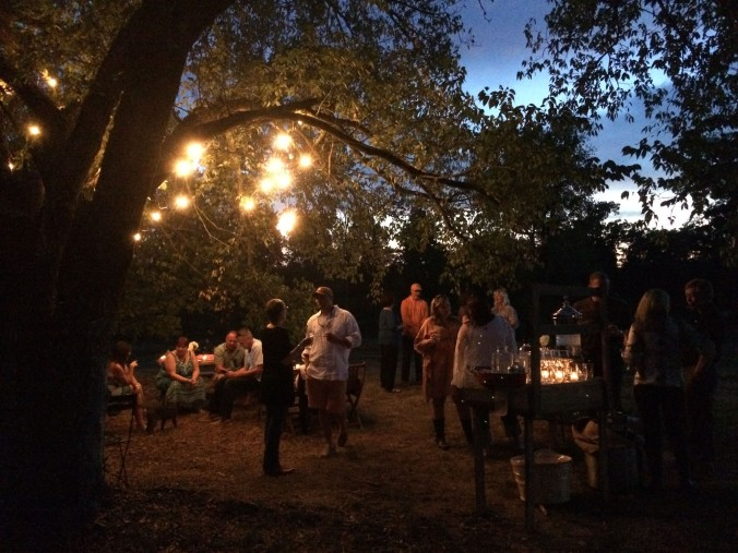 A magical evening at Century Harvest Farms in Greenback, Tennessee, just west of Knoxville. Guests invited to celebrate a right-of-passage, a 40th birthday, enjoyed a charcuterie featuring pates, salamis, savory jams and cheeses, bounty produced by the farm.
