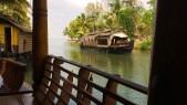 The Kerala houseboats, known as kettuvallams are a prominent tourist attraction in the backwaters. There are 2,000 of these houseboats creating an odd, but surprisingly enjoyable tourist attraction. Basically the boats travel in a conga-line formation through the backwaters. Tourists passing tourists waving to each other on the boats.