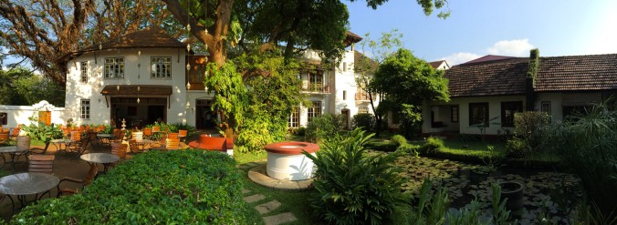 The Old Harbour Hotel in Fort Kochi in Kerala is a restored 300-year-old building. Built in the Dutch architecture style with Portugese influence, it was the first hotel of old Cochin.