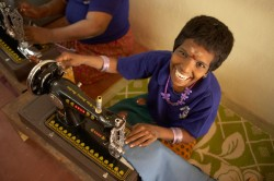 Families For Children opened a training school in 2013 for its developmentally and physically challenged residents. Each resident develops a skill compatible with their abilities. This is the Upcycling department where used denim clothes are recycled into other products such as laptop and yoga mat bags.