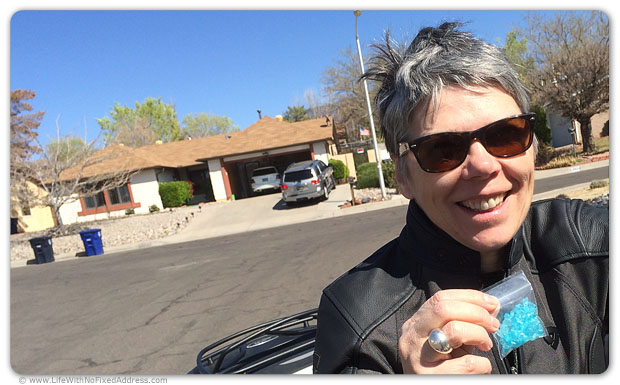 "No Breaking Bad tour is complete without a visit to Mr. White's house in the Albuquerque suburbs where I picked up my ""teenth."" Well, I actually picked up the teenth at the Candy Lady's store in Old Albuquerque. She made the candy crackle that served as Mr. White's meth mixture."