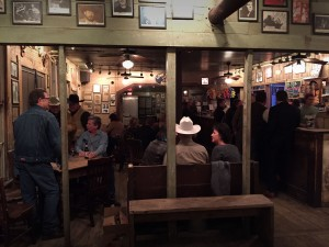 Inside the front door of Gruene Hall is a bar, the music and dancing happens in the back.