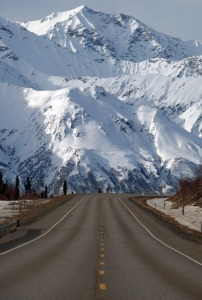 The Alaska Highway is a surprisingly good, two-lane road with stupendous scenery for its entire 1,439 miles. We're heading west, at the beginning of a thirty-mile drive, called Glacierview, on Alaska 1. There are numerous paved pullouts between Milepost 119 and MP 89.
