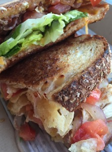 Gourmet grilled cheese sandwiches from Tom+Chee. Born as a food tent in downtown Cincinnati, they owners now have 15 locations.