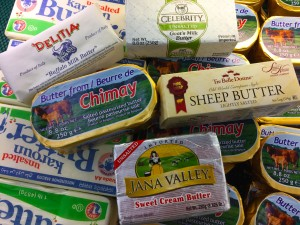 A selection of butters on sale at Jungle Jim's International Market.